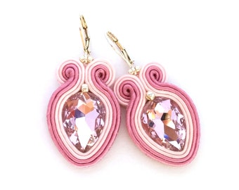 Soutache earrings - colorful earrings - birthday gift for sister - christmas gift for wife - wholesale jewelry - wholesale earrings bohemian