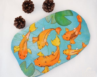 Koi Carp Hot Water Bottle Cover Christmas Gift, Koi Gift