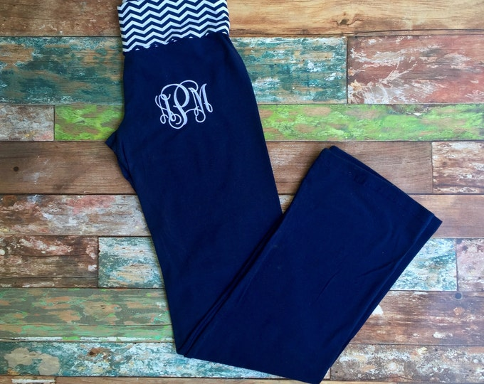 Monogrammed Yoga Pants, Yoga Capris, Monogram Yoga Clothing, Monogrammed gifts, Girls Yoga Pants, Women's yoga pants