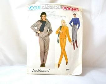 1970s Vintage Vogue Pattern 2222 Misses Jacket, Pants and Top Leo Narducci Design size 12 bust 34
