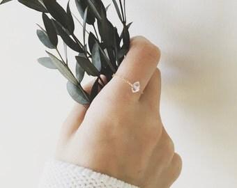 Herkimer Diamond Chain Ring