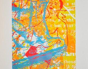 Thing I Owe You, silkscreen art print, 26 x 35.75 inches