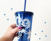 Tumbler - Catch a Falling Star - Blue and White - 16 oz