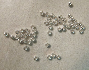 Crimp Beads, 2.5mm with a 1.5mm hole, Silver-Plated over Brass - 100 Crimp Beads or, choose a Larger Pkg from the 'Select an Option' Menu