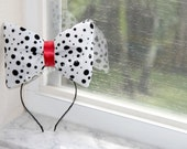 Cruella de Vil Bow // 101 Dalmations Bow // by Born TuTu Rock