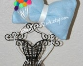 Up Bow // Balloons Bow // Big Blue Bow // Big Bow Headband // by Born TuTu Rock