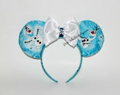 Olaf Mouse Ears // Snowman Mouse Ears // Frozen Mouse Ears // by Born Tutu Rock