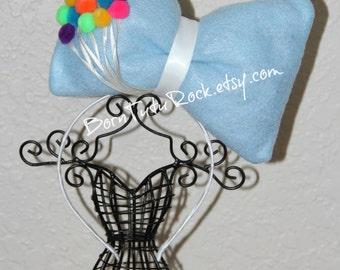 Up Bow // Balloons Bow // Big Blue Bow // Big Bow Headband // by Born TuTu Rock