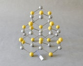 Vintage molecular atom model chemistry lab supply geometric sculpture teaching material wurtzite