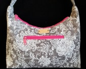 CLEARANCE SALE, Gray purses, Purses with zippers, Handmade handbag, purses with leather, hobo bags,