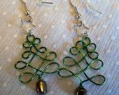 Wire Wrap Christmas Tree earrings