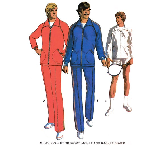 f65a1332bf9 Black Tennis Sequencials Warmup Pant Tennis Warm Up: Items Similar To 1973  Vintage Men's Warm-up Suit/Sport
