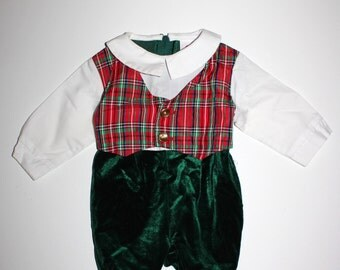 Vintage BABY BOY Outfit - Dashing Little Gent - Size 6 to 9 Months