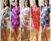 Floral Robe- Cotton,Bridesmaid Robe, Wedding Robe, Bridesmaid Gift,Bridal Party Robe,Bridal Party Gift,Bridal Robe, Maternity Robe, Floral