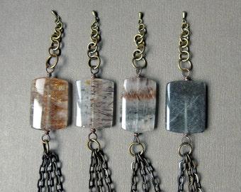 Healing Crystal Bracelets - Super Seven Bracelet - Quartz Crystal Bracelet - Melody Stone Jewelry - Healing Crystal Jewelry- Super 7 Crystal