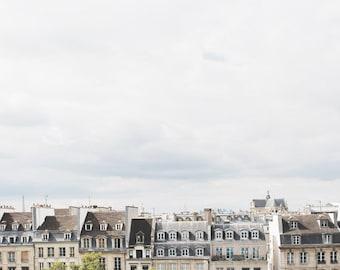 Paris photograph paris rooftops paris skyline architecture buildings centre pompidou travel photography dorm decor gift back to school