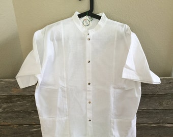 Authentic Mexican Manta Fabric Guayabera