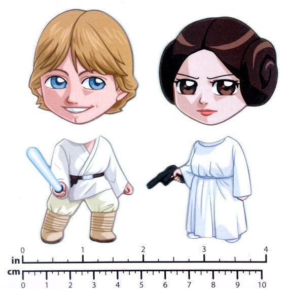 Mix and Match Magnets: Luke Skywalker and Princess Leia (Star Wars Set)