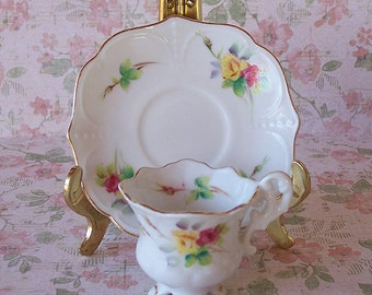 Beautiful Lefton Miniature Tea Cup & Saucer Set