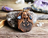 Wild Woman Necklace with Sodalite Gemstone. By TRaewyn.
