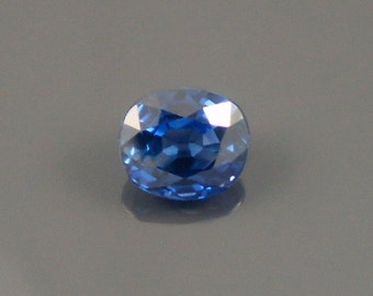 Sapphire: 1.24ct Blue Oval Shape Gemstone, Natural Hand Made Faceted Gem, Loose Precious Corundum Mineral, Cut Crystal Jewelry Supply 20267