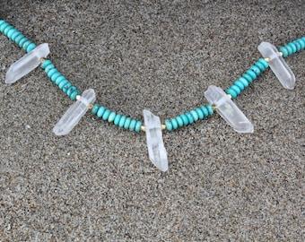 Turquoise and Quartz Necklace