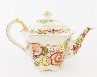Sadler Tea Pot, Hexagon Tea Pot, English Tea Pot, Made in England, Antique Sadler Tea Pot