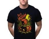 Let's Get Smashed T-Shirt Scary Jack O Lantern Creepy Pumpkin Retro Horror Halloween Party Tee Shirt Tshirt Mens Womens S-3Xl