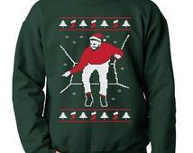 Christmas Bling Crewneck Ugly Christmas Sweater Sweatshirt Funny Pop Culture Meme Humor Joke Geek Geekery Crewneck Mens Womens S-5XL