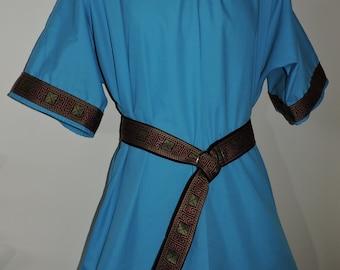 Custom made medieval Shirt w/ trim viking norsman celtic