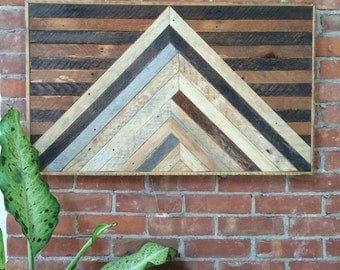 "Reclaimed Lath Wood Wall Art 34""x20"""