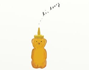 Hi Honey illustration