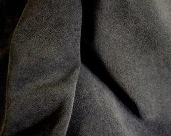 Micro Suede Fabric - Black - For Jackets and Outerwear - 5 Yards