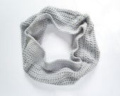 Infinity Scarf, Grey Scarf, Large Cowl, Chunky Scarf, Gift For Her .. The Coastline Cowl
