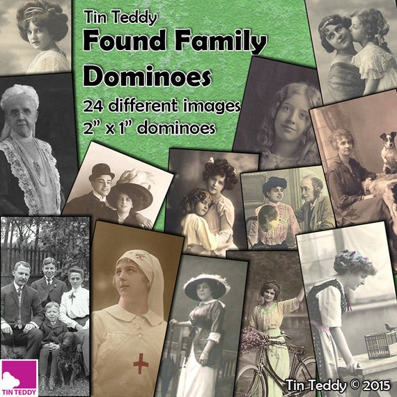 Tin Teddy Found Family Dominoes