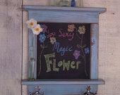 Chalk board With Shelves - Mini Chalkboard Craftsman style country chic with shelves and hooks- Available in 12 Colors