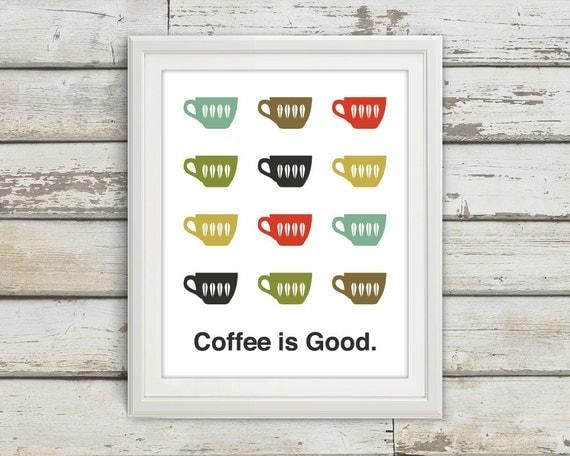 Coffee Home D Cor Coffee Print Coffee Print Coffee Poster Mid Century