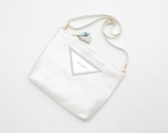 30% off MACY 4 / Large shoulder bag with adjustable shoulder strap with leather details - Ready to Ship-Sale