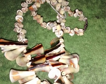 Everlasting Curly Shell Bead  Necklace..... Exquisite