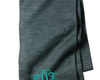 Monogram Scarf, Monogrammed Knit Scarfs, Personalized Scarves, Knit Scarf, Christmas Gifts, Under 25 Dollars, Gifts for Her, Cre8ivGifts