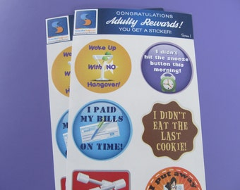 8 Adult Reward Stickers You Adulted Today Congratulations adult humor snarky sarcastic decals women woman sticker decal funny clever cute