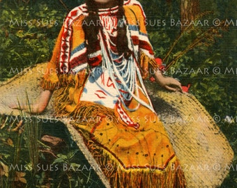Instant Download or Print - Indian Lady (C31)