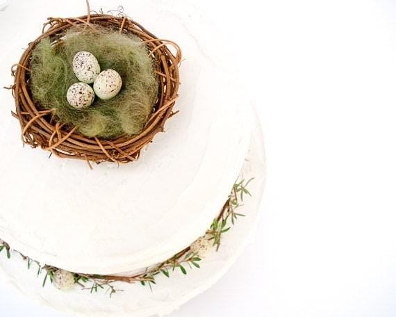 Nest Wedding Cake Topper - Woodland Wedding