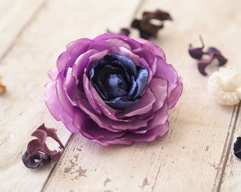 Floral Hair Clip, Lavender Wedding Accessory, Purple Hair Rose, Purple Fascinator, Lilac Hair Flower, Purple Wedding Clip,Lavender Hair Clip