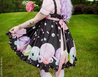 Creepy Candy, Kawaii Dress, Lolita Dress, Candy Jumper Skirt, Plus Size, Ladies, JSK, Gothic Dress, Fairy Kie Dress, Halloween Dress, Kawaii