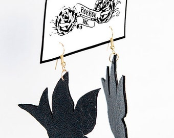 Leather Sparrow Earrings