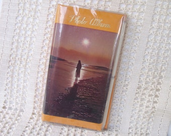1970s Photo Album for Kodak Instamatic Pictures . Dreamy Beach Sunset Cover