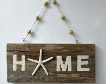 HOME Driftwood Art with seastar peacelovedriftwood