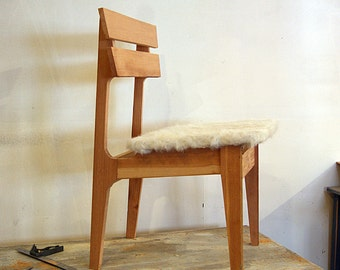 danish modern chair made from reclaimed wood, reclaimed wood chair, danish modern chair, salvaged wood, salvage style