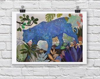 Leopard print / ELECTRIC / A4 / A3 Signed Inkjet Fine Art Print / big cats / jungle scene